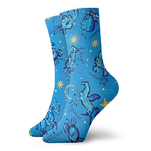 Astrologie Frauen Crew Socken Lustige Neuheit Athletic Crew Dress Casual Socken Geschenkideen