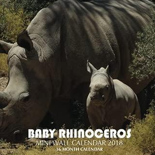 Baby Rhinoceros Mini Wall Calendar 2018: 16 Month Calendar