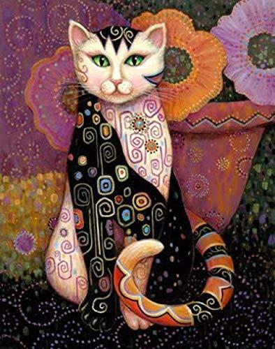 LangGe Impresiones para Paredes 70x90cm sin Marco Arte Gustav Klimt Pinturas al óleo Animal Cat Poster Decoraciones para el hogar Klimt en Pintura para Sala de Estar