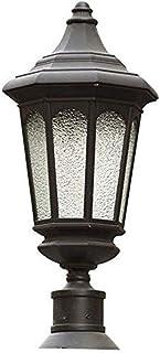 مصباح رأس عمودي كلاسيكي مقاوم للماء في الهواء الطلق، مناسب للباب الشرفة الخارجية مصباح عمودي، إضاءة ديكور فناء الشرفة