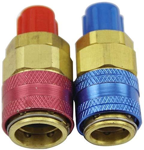Accesorios roscados Adaptadores Acopladores rápidos 2 unids Aires Acondicionados y conectores Accesorios para automóviles Auto Auto Conector de acoplamiento rápido Adaptadores de latón Aire acondicion