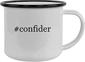 Rubber Docking #confider - Sturdy 12oz Hashtag Stainless Steel Camping Mug, Black