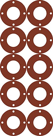 Pack of 5 Sterling Seal CFF7157.750.031.150X5 7157 60 Durometer Full Face Gasket 3//4 Pipe Size 1//32 Thick 1//32 Thick 1.06 ID Assigned by Sur-Seal Inc of NJ EPDM 1.06 ID Pressure Class 150#