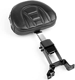 Stripe Rivet Plug In Driver Backrest Pad Rider Sissy Bar Back Rest With Pocket For Indian Chief Classic, Chieftain, Roadmaster, Chief Vintage, Chief Dark Horse, Springfield Models 2014-2018 (Type B)