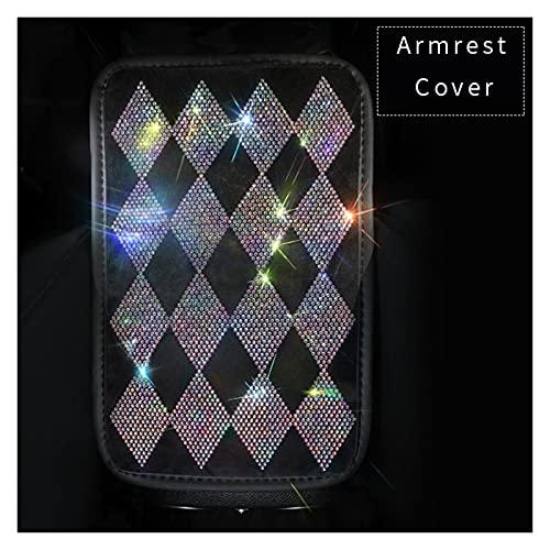ZhengFeng Shop Cubierta de engranajes de cristal de diamantes de imitación de colores Accesorios interiores para mujer Cubierta de cinturón de seguridad AUTOMÁTICO Almohadas de cuello de diamante