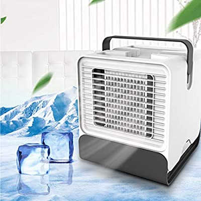 Alfheim Mini Air Cooler,Humidifier&Purifier,Portable Handle Negative Ion Air Conditioner with Night Light USB,Personal Space Mobile Evaporative Fan for Office Home Outdoor Bedroom