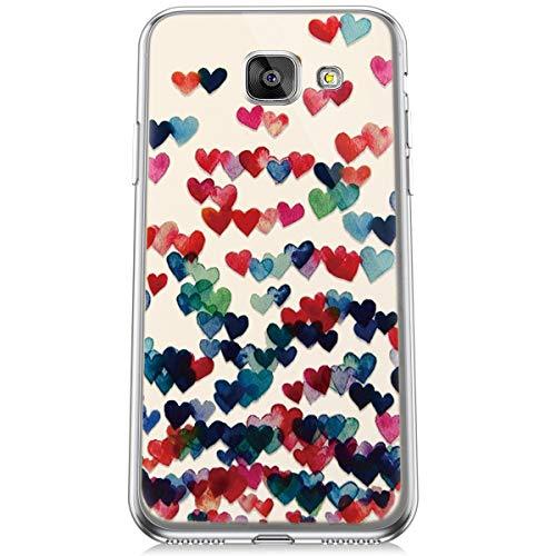 Felfy Transparente Funda Compatible con Galaxy A3 2016 Carcasa Silicona,Compatible con Galaxy A3 2016 Funda Transparente con Dibujos,Moda Pintado Diseño Crystal Clear Silicona TPU Case.Amor