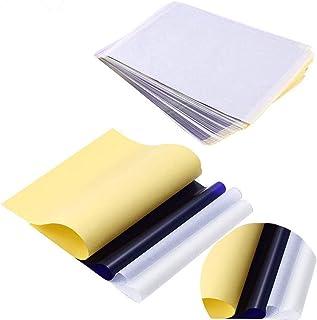 """Papier de transfert pour tatouage - SOTICA 15 feuilles 4 couches Papier pour pochoir tatouage 8.5""""X 11"""" Papier de transfer..."""