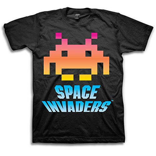 Men's Space Invaders T-Shirt, Made in USA, S to XXL
