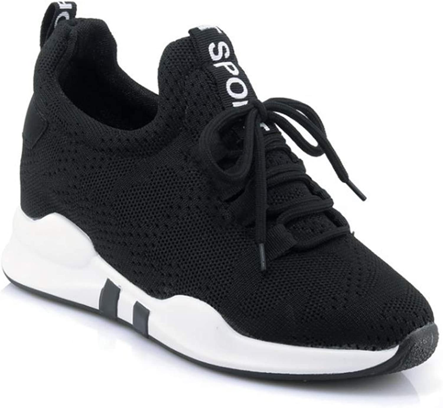 Bonrise Women Running Sneakers Comfort Slip On Wedges shoes Breathable Athletic Casual Mesh Walking shoes