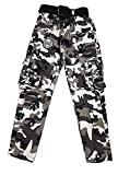 PUPPET-NX- Relaxed-Fit Cargo Pants Multi Pocket Military Camo Pants for Boys