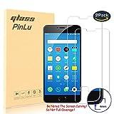 [2 Pack] Protector de pantalla de cristal para Meizu M3 Note pinlu® Protector Cristal Vidrio Templado para Meizu M3 Note [9H/2.5D/0.26mm, 99% Transparente]