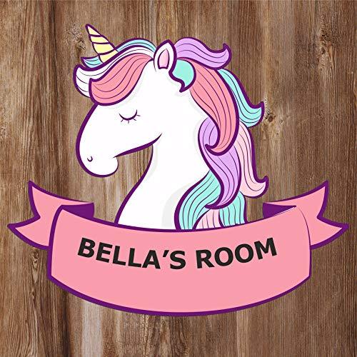 Kids Unicorn Shaped Bedroom Door Sign Personalised For You - Any Name! Door Plaque,Girls/Boys,Nursery,Decor,Kids Room,Animals