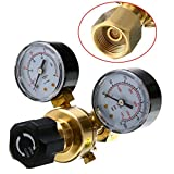 1pc W21.8 Oulet Argon CO2 <span class='highlight'>Gas</span> Brass Pressure Regulator Mig Tig <span class='highlight'>Welding</span> Flow Meter Gauge