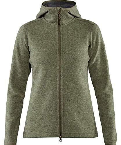 FJALLRAVEN High Coast Wool Hoodie W Sudadera, Mujer, Green, XL