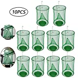 FOONEE Ranch Fly Trap, 10 Pcs 2019 Most Effective Flay Catcher Outdoor Fly