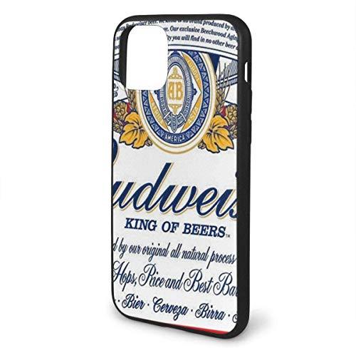 N/A iPhone 11 hoesje Budweiser bier siliconen gel rubberen beschermhoes voor iPhone 11