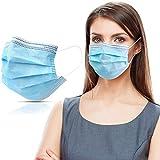 50 Stück Masken Mundschutzmasken 3-lagig Mundschutz Gesichtsmaske Einwegmask Mund und nasenschutz