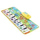 WNSC Musik Klavier Tastatur Teppich, Kinder Klavier Musik Spielmatte, Baby Musik Teppich, Vielzahl von Musik Soft Multiple Function Key für Kinder Baby(Music Blanket)