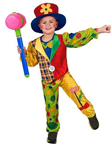 Generique - Déguisement Clown Multicolore garçon S 4-6 Ans (110-120 cm)