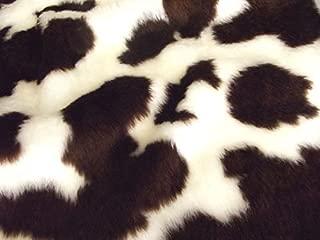 CRS Fur Fabrics Diversión Animal Piel sintética Material de la Tela–marrón Vaca