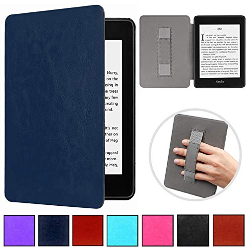 Kindle Paperwhite 10th Gen 2018 Case,Artyond PU Leather Cover with Auto Wake/Sleep Feature Hand Strap Holding Smart Sleeve Case for All-New Kindle Paperwhite 10th Generation 2018 Release (Darkblue)