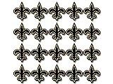 20 Pack: 1 inch New Orleans Colors Fleur De Lis Shaped Stickers (Logo Saint Louisiana superdome)