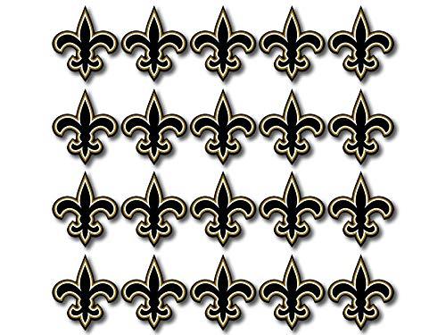 20 Pack New Orleans Saints 1 Inch Fleur De Lis Shaped Stickers (Logo Football Louisiana superdome)