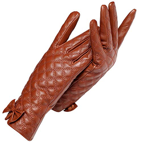 Kipeee Skihandschuhe Winter Fahrrad Hellgraue Lederhandschuhe Für Damen Graue Karierte Lederhandschuhe Für Damen Weibliche Handschuhe