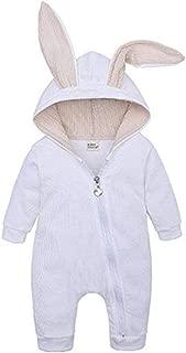 Fulision Baby Unisex Zipper Hooded Cute Long Sleeve Warm Autumn Winter Romper Jumpsuits Coat