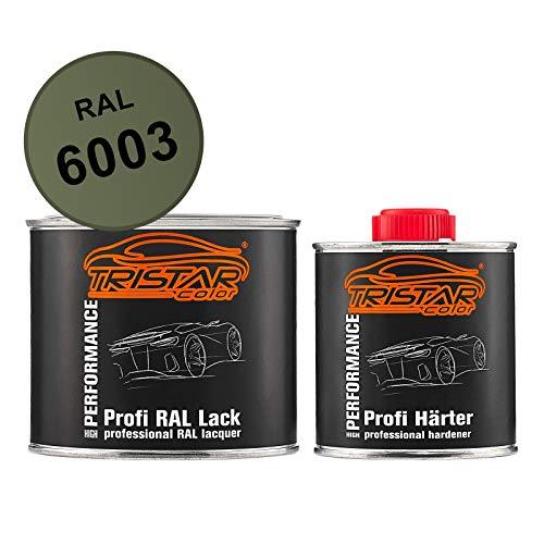 TRISTARcolor RAL 6003 Olivgrün matt 2K Autolack 0,75 Liter / 750 ml Dose inkl. Härter
