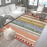 HXJHWB Alfombra habitación Dormitorio Lavables Comedor - Exquisitas alfombras rectangulares multicolores-120 cm x 160 cm