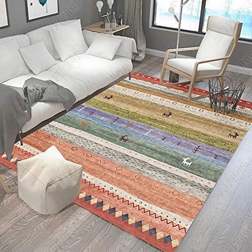 HXJHWB Alfombra De Contorneada Lavables Moquetas - Exquisitas alfombras rectangulares Multicolores-Los 60CMx90CM