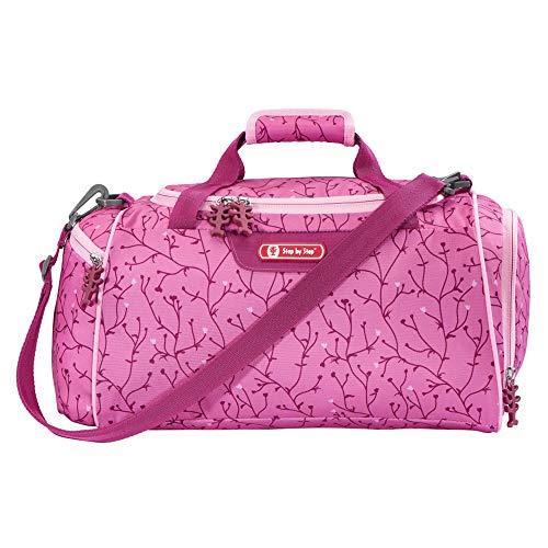 Step by Step Bolsa de deporte con compartimento para ropa húmeda, correa extraíble, correa ajustable para el hombro, 13 L, diseño de mariposa, color rosa