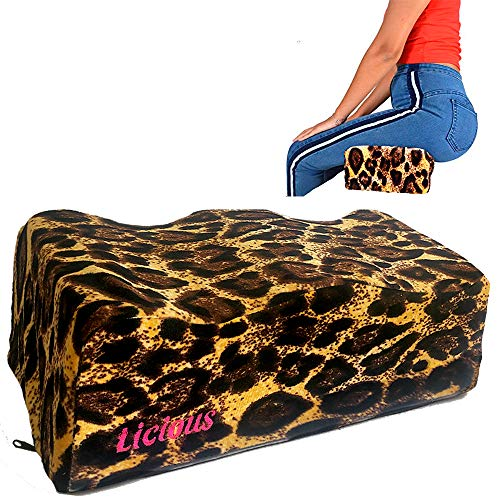 BBL Pillow Seat After Surgery Fast Recovery - Brazilian Butt Lift Post Surgery Cushion Seat - Best Option Booty Licious Women - Sitting Car & Chairs - Memory Foam for Buttocks - by Licious (Leopard)