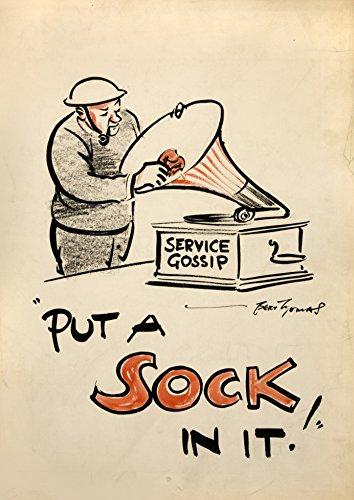 Britischer Vintage Propaganda Tooth WW2 1939-45 PUT A Socke IN it! 250gsm Gloss ART CARD A3 Reproduktion
