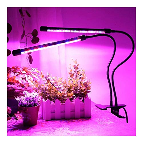 SXFYHXY Plant Growing Lamps Plant Grow Light 20W LEDs Two Head Led Plant Light With USB Cable 3 Dimmable Levels Modes Red Blue Spectrum Light For Indoor Plants Organic plant lights growth lamps