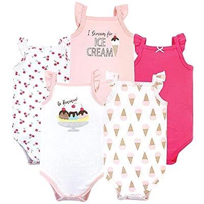 Hudson Baby unisex-baby Cotton Sleeveless Bodysuits