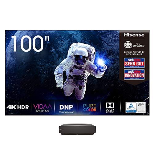 "Hisense 100L5F-B12 (100 Zoll) Laser-Projektor (100\"" DNP Panel, 4K Laser TV, UHD, HDR, Laser Technologie, VIDAA U Smart-TV, Triple Tuner DVB-C/S/S2/T/T2, Lieferung inkl. Panel)"