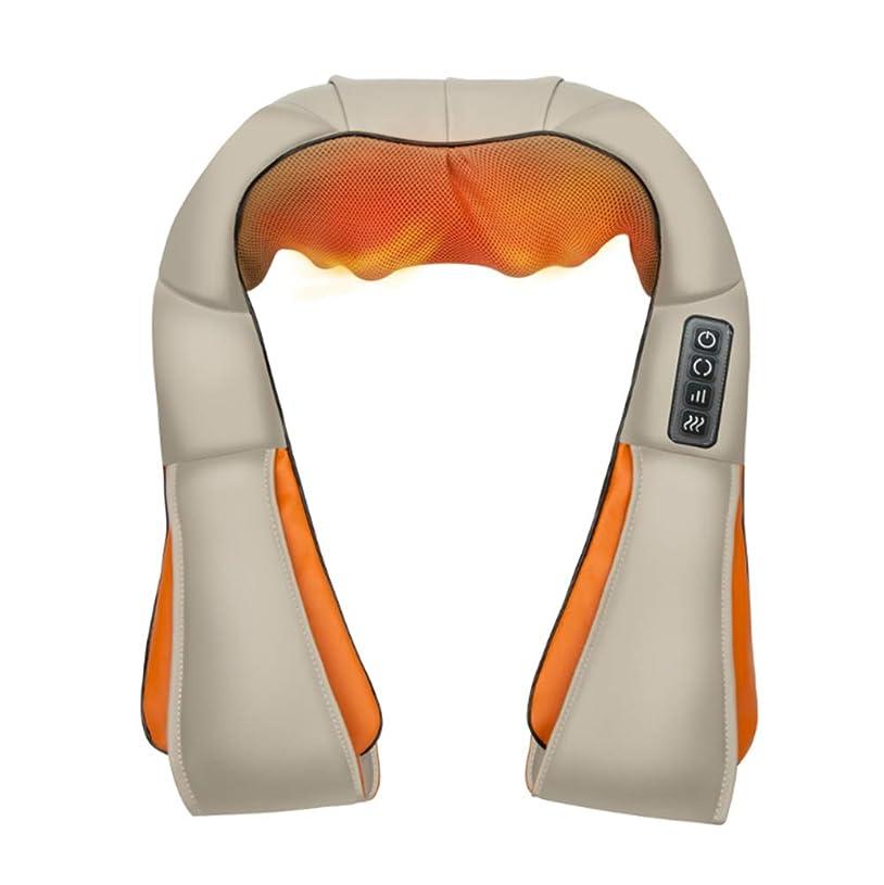 背景とても多くの協力する指圧マッサージャー、ネックマッサージャー、リラクゼーション治療のための熱およびタイミング機能を備えた3dディープニーディングショルダーマッサージ筋肉の痛み緩和ウエスト、首、脚、肩、背中