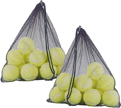 Speeron Tennis-Ball: 24er-Set Tennisbälle, 65 mm für Fortgeschrittene, gelb, mit Tragenetz (Tennisball Hund)