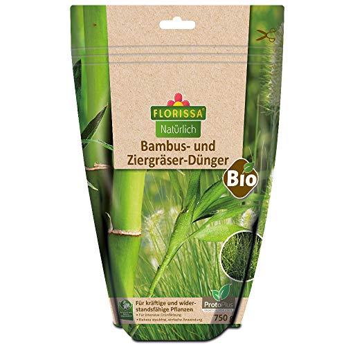 Florissa Natürlich 58745 BIO Spezialdünger für Bambus und Ziergräser | biologisch GÄRTNERN Gütesiegel | haustierfreundlich | im wasserdichten, wiederverschließbaren Beutel, Braun