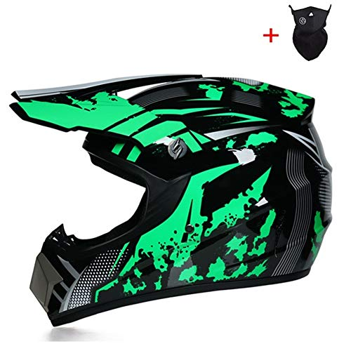Qlkx Motocross Helm, Motocross Off Road Helmet, ATV Helm für Sicherheit Schutz, Unisex Motorradhelm,c,L