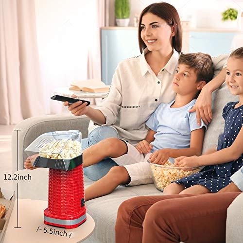 Product Image 7: Fast Hot Air Popcorn Popper With Top Cover,Electric Popcorn Maker Machine,Healthy & Delicious Snack For Family Gathering,Easy To Clean,ETL Certified,Safe