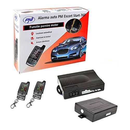 Auto Alarmanlage PNI Escort Start 360 mit Pager und Motorstart + PNI BPS01 Bypass-Modul enthalten