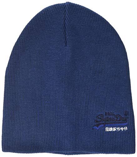 Superdry Herren ORANGE Label Beanie Strickmütze, Blau (Terrace Navy Grit Y6b), Einheitsgröße