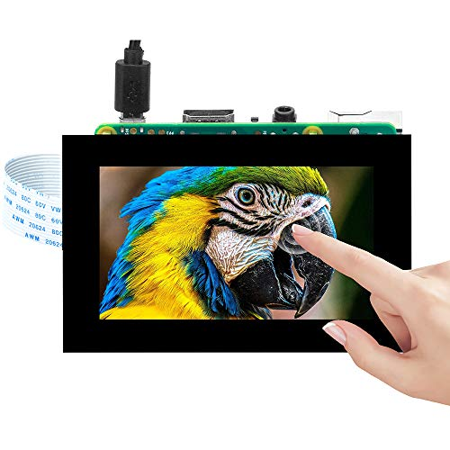 OSOYOO 3.5 Inch DSI Touchscreen LCD Display for Raspberry Pi 4 B 3 Model B+ 2 | Capacitive Finger Touch screen | Plug and Play Monitor Compatible with Raspbain Ubuntu Kali RetroPie Windows 10 IOT core