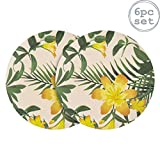 Nicola Spring 6 Piece Eco-Friendly Bamboo Dinner Plates Set