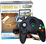 Enjoy hours of fun gaming just about anywhere. Play on any TV with AV Inputs. Connectivity: AV Output Plug N Play [Any TV]. USB to use without batteries. 98000 in 1 Game System comes with 98000 built-in games, requires no expensive game console, and ...