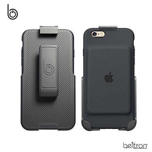 BELTRON Belt Clip Holster for the Apple Smart Battery Case - iPhone 7 (case not included) - Features: Secure Fit, Quick Release Latch, Durable Rotating Belt Clip & Built-in Kickstand